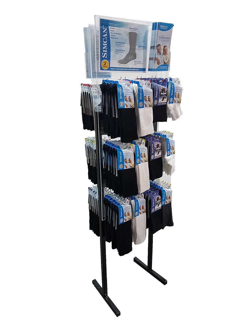 SIMCAN | Diabetic Socks  | 12 peg Acrylic display only